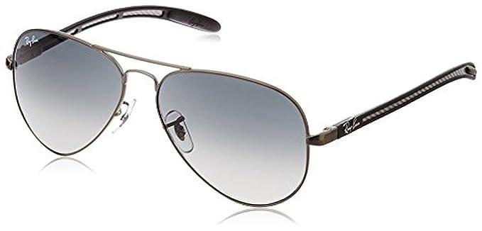 f9044f468 ... spain ray ban aviator carbon fibre rb8307 sunglasses matte gunmetal  grey gradient dark grey 58mm 20864