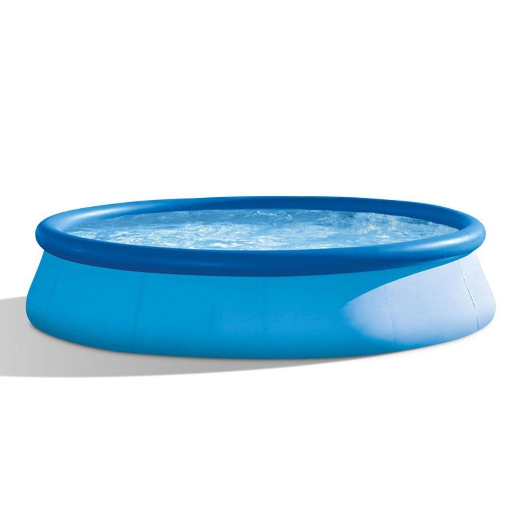スイミングプールThicken Large大人プールプールファミリー子供プール396 * 84CM皿の形3-5人青   B07D8HR4Y2