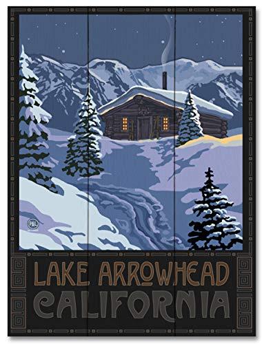 Lake Arrowhead California Winter Mountain Cabin Wood Art Print by Paul A. Lanquist (18