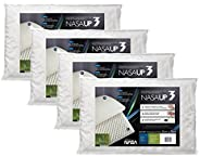 Kit 4 Peças Travesseiro Nasa Up 3 para Fronhas, Fibrasca, Revestimento 100% Poliéster, Branco