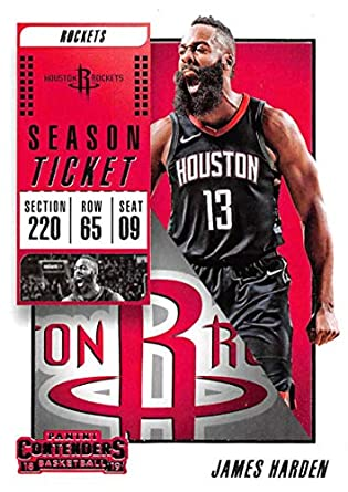973ac38e4 2018-19 Panini Contenders Season Ticket  38 James Harden Houston Rockets NBA  Basketball Trading