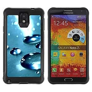 Suave TPU Caso Carcasa de Caucho Funda para Samsung Note 3 / Blue Water Drop 4 / STRONG