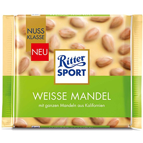 Ritter Sport Nut-Class White chocolate with almonds (5 x 100g)