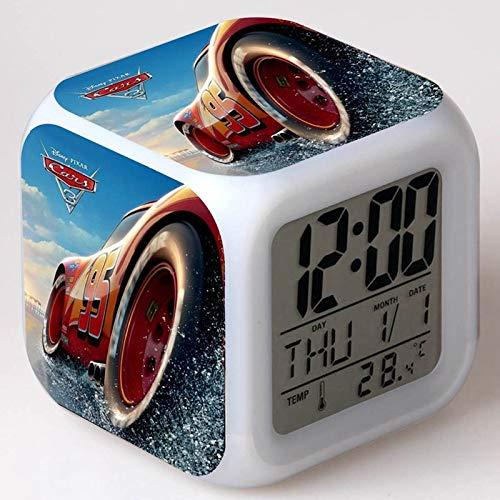 Amazon.com: Free Drop Shipping Cars Day Date Temperature reloj despertador Kids LED 7 Color Flash Changing Clocks Digital Alarm Clock Watch: Home Audio & ...