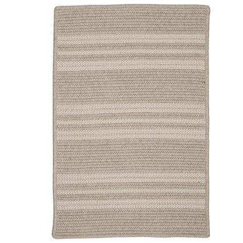 (Sunbrella Southport Stripe UH29SAMPLES Sample Swatch Rugs, 14 x 17, Ash Gray)