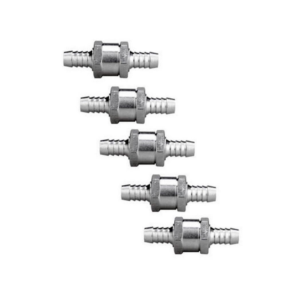 "Silver 10mm Sharplace 2 Pcs 6MM 1//4/"" 8mm 5//16 10mm 3//8 12mm 1//2 Chrome Aluminium Fuel Non-return One Way Check Valve Oil Petrol Diesel Marine Water"