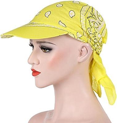 🌻MINXINWY Sombreros Mujer, Mujeres India Musulmana Retro Algodón ...