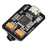 DROK Micro PCM2707 DAC USB Decoder Board Sound Card, 90DB Digital to Analog Audio Codec for Android Phone, Voice Announcement System DIY