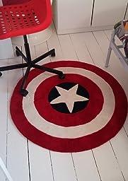 Luk Oil Boys Children S Room Rug Captain America Shield