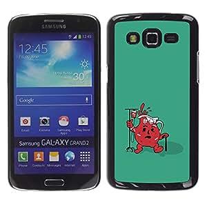 CASEX Cases / Samsung Galaxy Grand 2 SM-G7102 SM-G7105 / Funny Cool Aid Jug # / Delgado Negro Plástico caso cubierta Shell Armor Funda Case Cover Slim Armor Defender