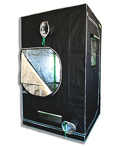 "51yDTbL2l9L - Matrix Horticulture 48""x48""x80"" Grow Tent Diamond Mylar 600D Hydroponic Growing Room Box for Indoor Plants Observation Window Arch Door D Design 4x4"