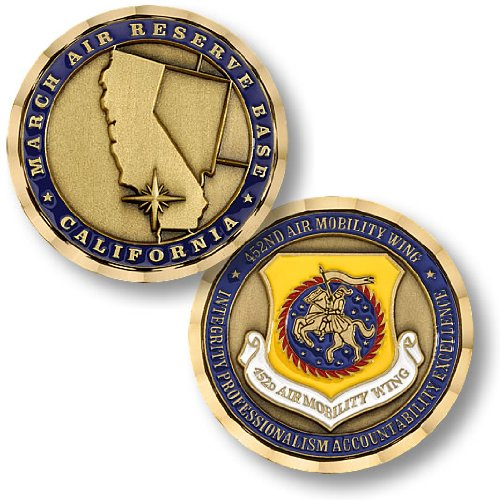 USAF March Air Reserve Base - 452nd Air Mobility Wing Challenge Coin (Wing Challenge Coin)