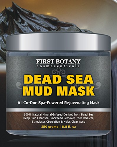 100-Natural-Mineral-Infused-Dead-Sea-Mud-Mask-88-oz-for-Facial-Treatment-Skin-Cleanser-Pore-Reducer-Anti-Aging-Mask-Acne-Treatment-Blackhead-Remover-Cellulite-Treatment-Natural-Moisturizer