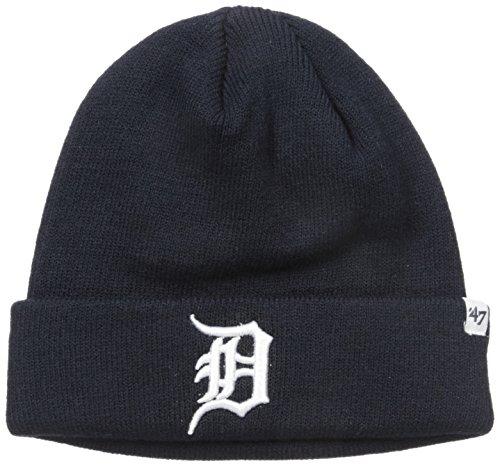 Detroit Tigers Dark Blue Knit Beanie Cap Hat by 47 Brand