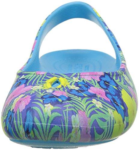 Crocs Olivia Ii Graphic W Blu/Flr, Bailarinas para Mujer Blu (Blue/Floral)