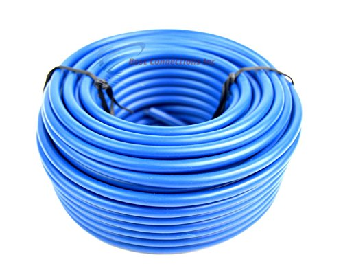 Audiopipe 50' Feet 10 Gauge Blue Primary Remote Wire Car Auto Power Cable