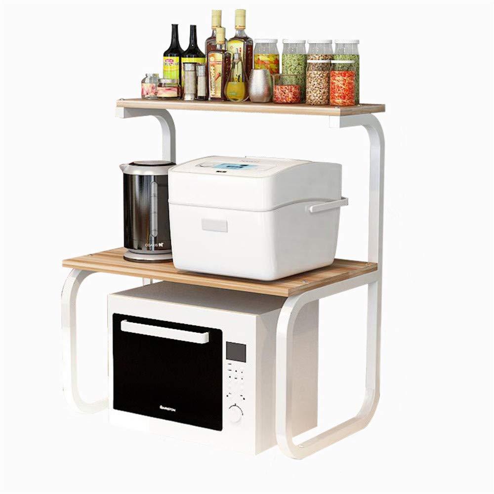 Yuybei-Home Baker's Shelf Microwave Shelf Oven Storage Shelf Kitchen Shelf Storage Rack Custom Seasoning Spice Board Wooden 3 Layers Used for Spice Rack Organization Workstation by Yuybei-Home
