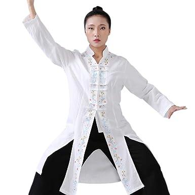 XFentech Kung Fu Uniforme Ropa - Mujeres Shaolin Bordado Floral ...