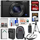 Sony Cyber-Shot DSC-RX100 IV 4K Wi-Fi Digital Camera 64GB Card + Battery & Charger + Case + Tripod + Strap + Kit