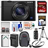 Sony Cyber-Shot DSC-RX100 IV 4K Wi-Fi Digital Camera with 64GB Card + Battery & Charger + Case + Tripod + Strap + Kit For Sale