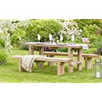 Solid Wood Outdoor Dining Bench Set