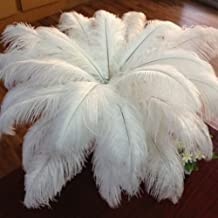 50pcs Ostrich Feathers 10-12inch(25-30cm) for Home Wedding Decoration White
