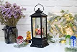 Eldnacele Line in Snow Globe Lantern with Music and Timer, Christmas Decorative Glittering Lantern Light Lamp for Adults and Kids