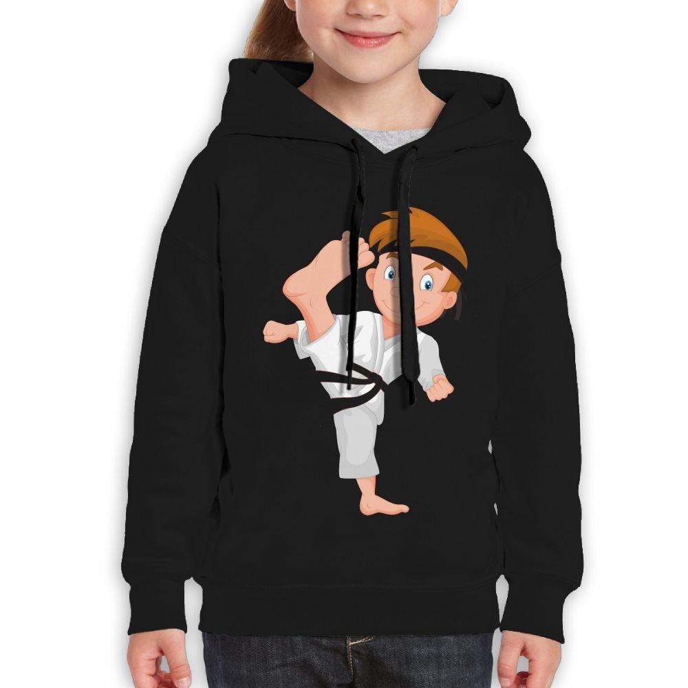 Vintopia Teen Girls Karate Boy Fashion Travel Black Hoody M