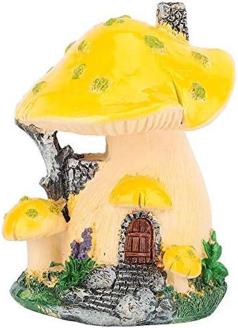 Taidda- Pilz Haus Dekor, Hof und Garten Miniatur Pilz Haus Skulptur Kunstharz Rasen Kunst Dekoration Innenhof Patio Ornamente