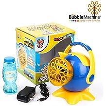[Patrocinado] My máquina de burbujas   increíble funciona con pilas máquina de burbujas con más de 500Burbujas por minuto de salida   conveniente con AC Adaptor Funda Extraíble y Smart manejar  , color azul y amarillo