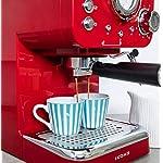 IKOHS-THERA-RETRO-Macchina-del-Caffe-Express-per-caffe-espresso-e-cappuccino-1100-W-15-bar-vaporizzatore-regolabile-capacita-125-l-caffe-macinato-e-monodose-con-doppia-uscita-Rosso