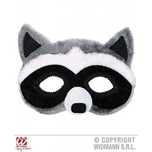 Lively Moments Augenmaske / Maske / Gesichtsmaske plüschiger Waschbär ( Waschbärkostüm / Tierkostüm Zubehör )