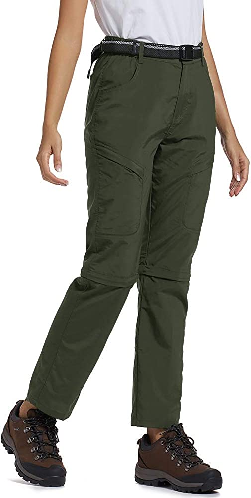 Womens Hiking Pants Quick Dry Convertible Stretch Lightweight Outdoor UPF 40 Fishing Safari Travel Shorts Camping Pants