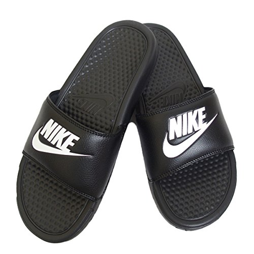 White Benassi Nero Black Ciabatte JDI Nike Uomo CYqIwY