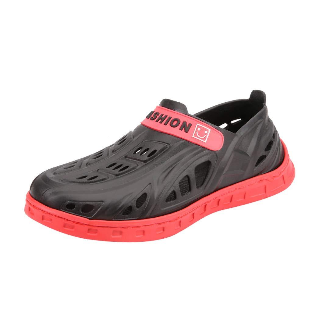 Summer Men's Flats Beach Sandls Flip Flops Sea Breathable Hole Shoes Slippers