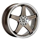 18x7.5 Enkei EV5 (Matte Bronze w/ Machined Lip) Wheels/Rims 5x100/114.3 (446-875-0245ZP)