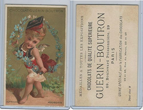 1890's Guerin Boutron Chocolate, Paris, Cherub, Girl, (A61) ZQL
