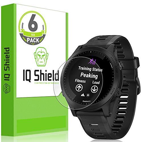 (6-Pack) IQ Shield LiQuidSkin Full Coverage Screen Protector for Garmin Forerunner 945 HD Clear Anti-Bubble Film