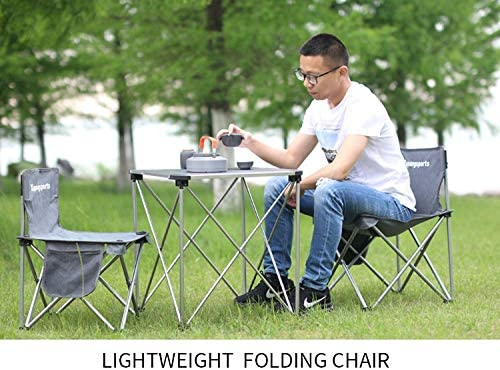 Xupangsports Small Folding Camping Chair Lightweight Portable Chair for Adults Mountaineering Adventure Hiking Fishing Beach Picnic Party Gardening with Carry Bag