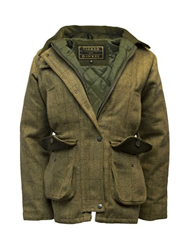 - Walker and Hawkes Women's Derby Tweed Shooting Hunting Country Jacke Light Sage US 8 (UK 10)