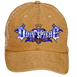 Nusajj Odin Sphere Leifdrasir Logo Unstructured 100% Cotton Sports Hats Design for Women Brown One Size
