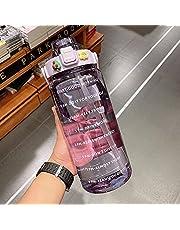 Sport wasser becher traggare plastik becher mit großer kapazit mit strohhalm, skala, männliche und weiblanche studenten, traggare wasser flasche