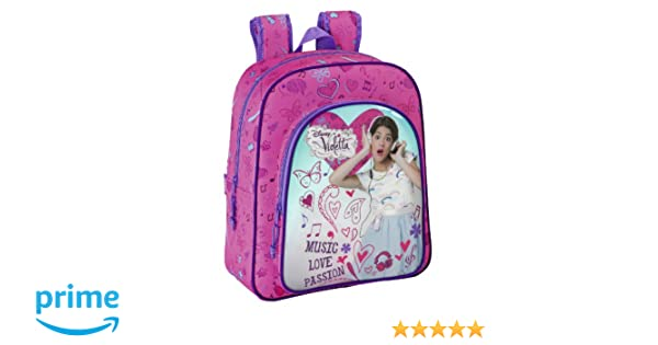 Violetta - Mochila junior adaptable, 32 x 38 x 12 cm (Safta 611347640): Amazon.es: Equipaje