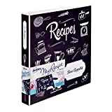 Avery My Recipe Binder, Extra Wide 1-Inch Slant Ring, Chalkboard Design (19801)