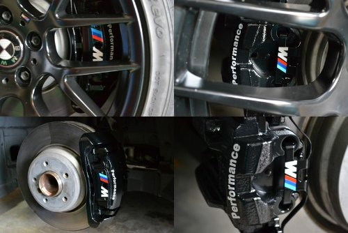 BMW M Performance HiTemp Premium Cast Vinyl Brake Caliper Decal - Bmw brake caliper decals