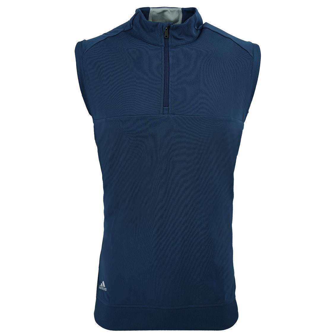 adidas Golf Mens Quarter-Zip Club Vest (A271) -Dark Slate -S