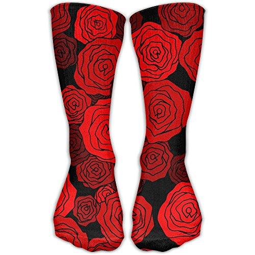 Personalized Rose Pattern Unisex Short Socks Casual Athletic Outdoor Socks Novelty Socks 30cm