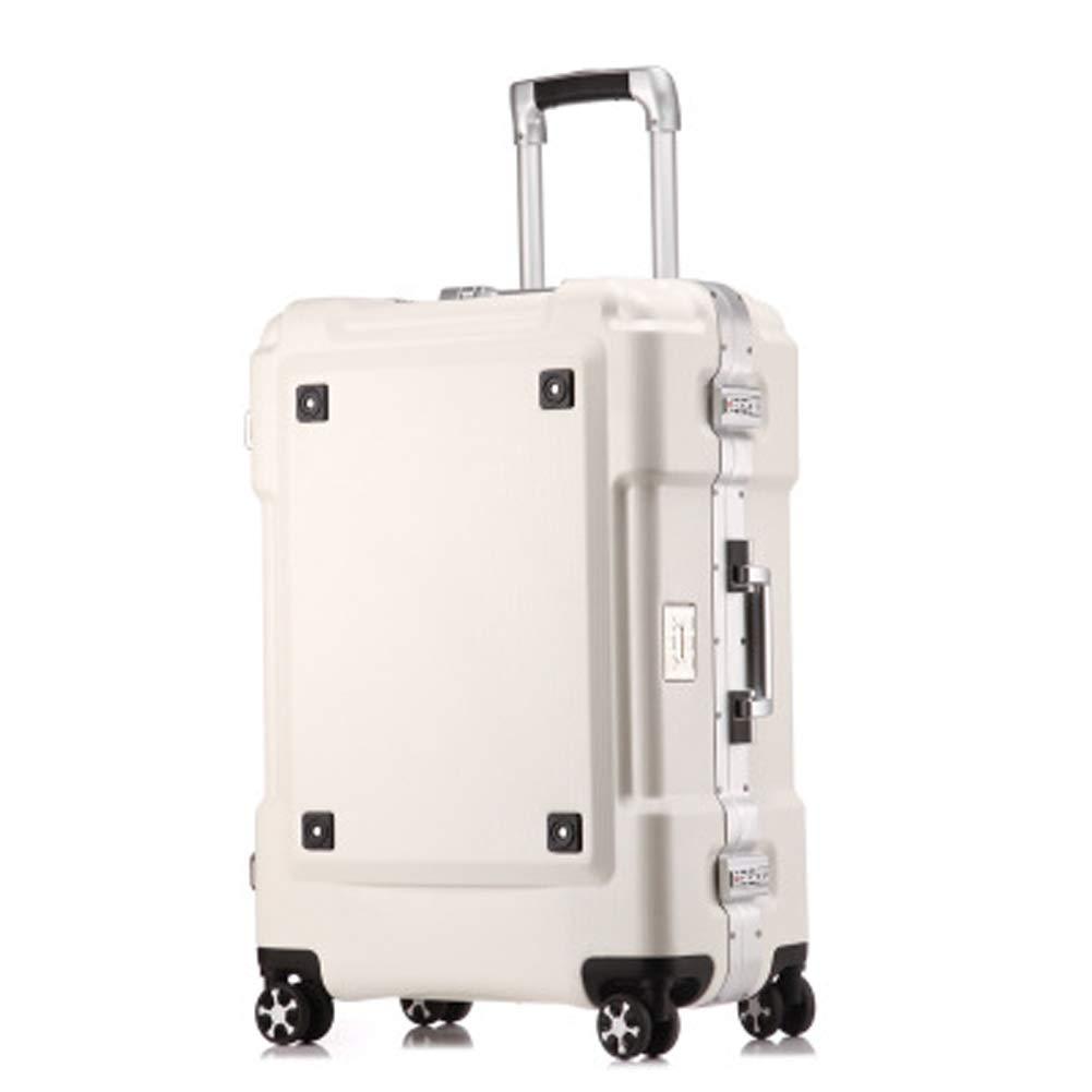 BAG 軽量 高級 スーツケース トランスフォーマー スーツケース アルミフレーム トロリーケース 牽引 リーエアー S ホワイト BAG001176 B07RKQ3H9Z ホワイト Small