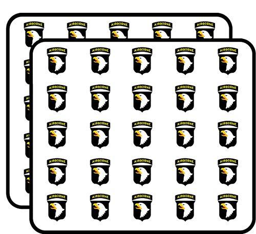 Eagle Airborne - 101st Airborne Logo Screaming Eagles (Logo USAF Army 101) Sticker for Scrapbooking, Calendars, Arts, Kids DIY Crafts, Album, Bullet Journals