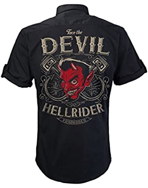 Rockabilly,Mechanic Work Shirt Rock and Roll, V8, Hot Rod, Hellride, S-4XL
